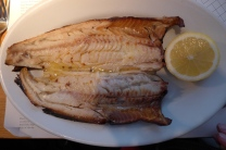 Hot buttered Arbroath smokie, a type of smoked Haddock from the North Sea Coast of Scotland, still smoked using traditional methods dating back to the late 1800s.