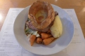 Sirloin of beef with Yorkshire pudding