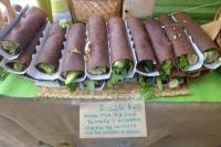 raw flax seed flour wraps