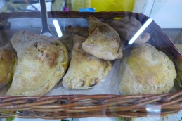 whole grain empanadas at the cafe at El Galpón