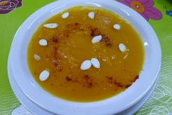 pumpkin soup at the cafe at El Galpón