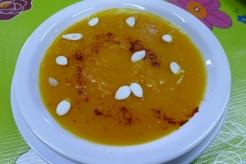 pumpkin soup at the cafe at El Galpón